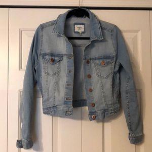 Forever 21 Faded Denim Cropped Jacket